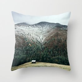 Cabin in the woods Throw Pillow