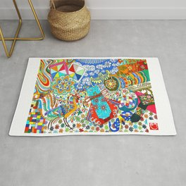 Korean traditional hand embroidery Rug