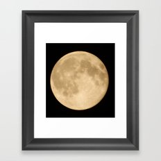 Super Moon Framed Art Print
