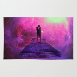 Kiss into the universe Rug