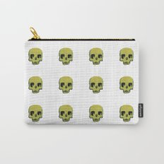 Skull In Gold Carry-All Pouch