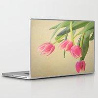 tulips Laptop & iPad Skins featuring Tulips by Rachel Burbee