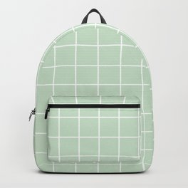 Pistachio Green   Minimal Geometric Design   Simple Home   Minimal Feel   Pastel Colors Backpack