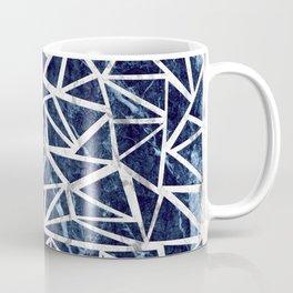 Mozaic Triangle Blue Marble Coffee Mug
