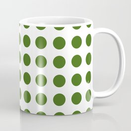 Simply Polka Dots in Jungle Green Coffee Mug
