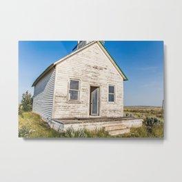 Snake Creek School, Valley County, Montana Metal Print
