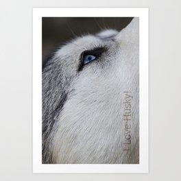 Husky eye Art Print