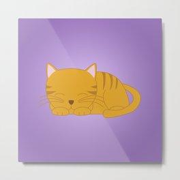 Orange Tabby Kitten Metal Print