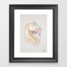 One Line Centurion Nova's helmet Framed Art Print