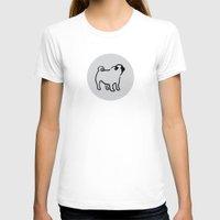 polka dot T-shirts featuring pug polka dot by Gray
