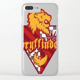 Gryffindor Quidditch Team Clear iPhone Case