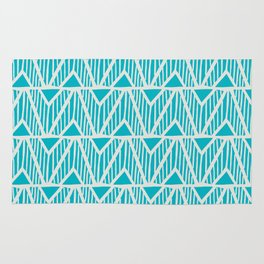 mala, african tribal pattern turquoise Rug
