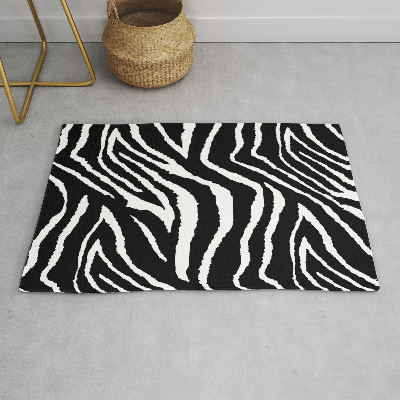 Zebra Animal Print Black And White