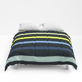 Classic Stripe - Navy, Neon, Fluro, Blue, Girly Trendy Cell Phone Case Comforters
