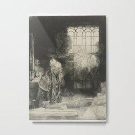 Faust in his Study Metal Print
