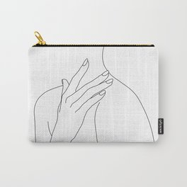 Female body line drawing - Danna Carry-All Pouch