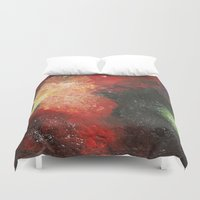 cosmic Duvet Covers featuring Cosmic by Bleriot