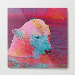 Popular Animals - Polar Bear Metal Print