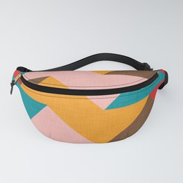 Kilim Chevron pink yellow Fanny Pack