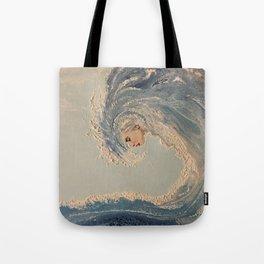 Ocean wave woman Serene Force nature  Tote Bag