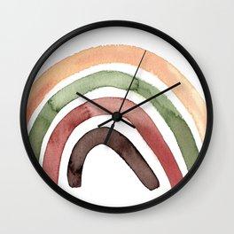 Scandinavian rainbow print Wall Clock