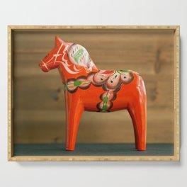 Dala horse - Dalecarlian horse Serving Tray