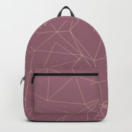 Rose Gold Geometrical Print on Dusty Rose Backpack