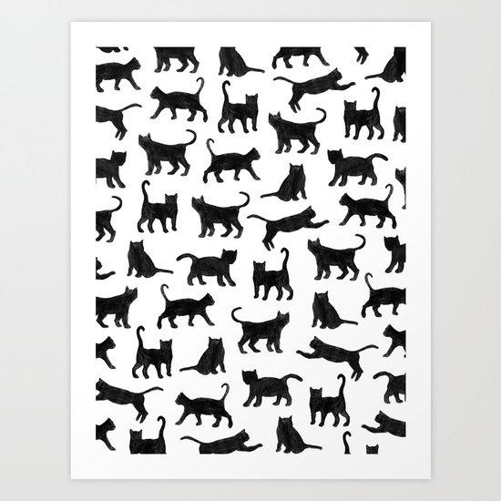 Le petits chats Art Print