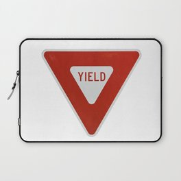 Road Traffic Yield Sign Laptop Sleeve