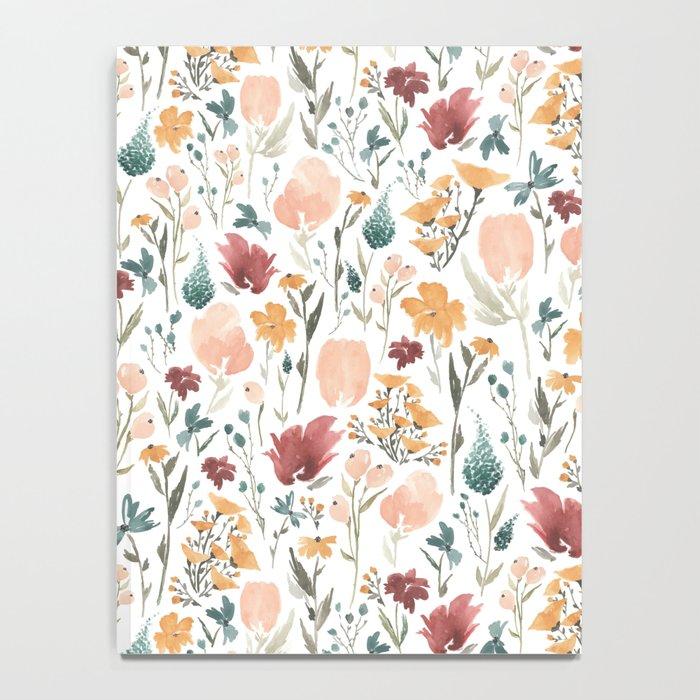 Deep Florals Notebook