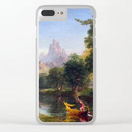 Thomas Cole The Voyage of Life Youth Clear iPhone Case