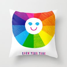 Show Your True Colors Throw Pillow