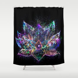 Lotus Flower Glow Shower Curtain