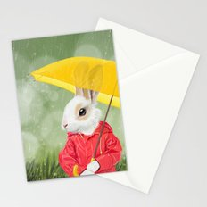 It's raining, little bunny! Stationery Cards