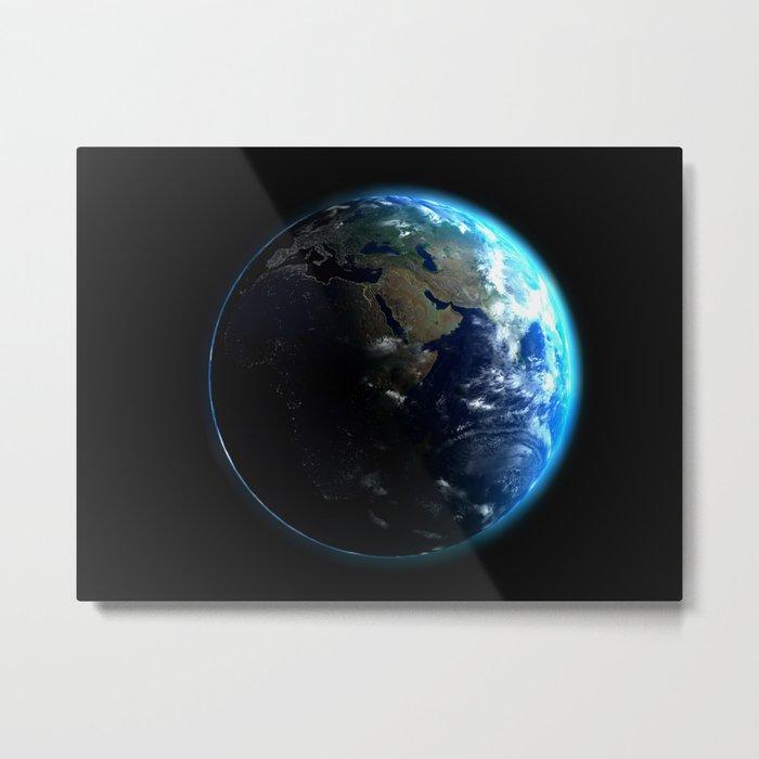 Dark Side of the Earth Metal Print