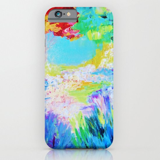 IN DREAMS - Gorgeous Bold Colors, Abstract Acrylic Idyllic Forest Landscape Secret Garden Painting iPhone & iPod Case