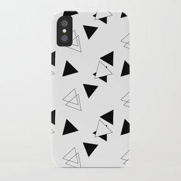 Modern Black Triangles iPhone Case