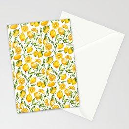 sunny lemons print Stationery Cards