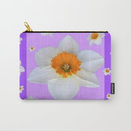 ULTRA VIOLET  WHITE DAFFODILS GARDEN ART Carry-All Pouch