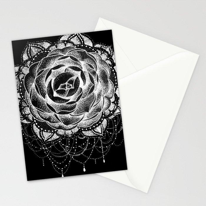 46b802834 Camellia Dotwork Mandala Stationery Cards by robinelizabethart ...
