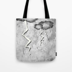 There's a storm a brewin Tote Bag