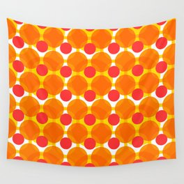 Circular Peach Pattern Wall Tapestry