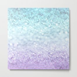 MERMAIDIANS AQUA PURPLE Metal Print