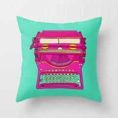 Typewriting // Retro Throw Pillow