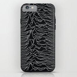 Unknown Radio Waves - Unknown Pleasures iPhone Case