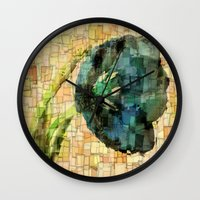 tulip Wall Clocks featuring Tulip by Aloke Design