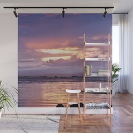 Misty Sunset Wall Mural