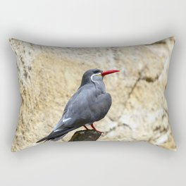 Inca Tern Perched on a Branch Rectangular Pillow