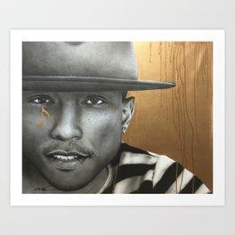 Pharrell In Gold Art Print