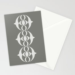 Alien crop circle, Sacred geometry Stationery Cards